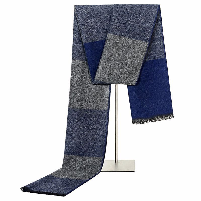 Plaid Scarves Warm Soft Lone-Size Fashion Thick And Muffler Men Shalws
