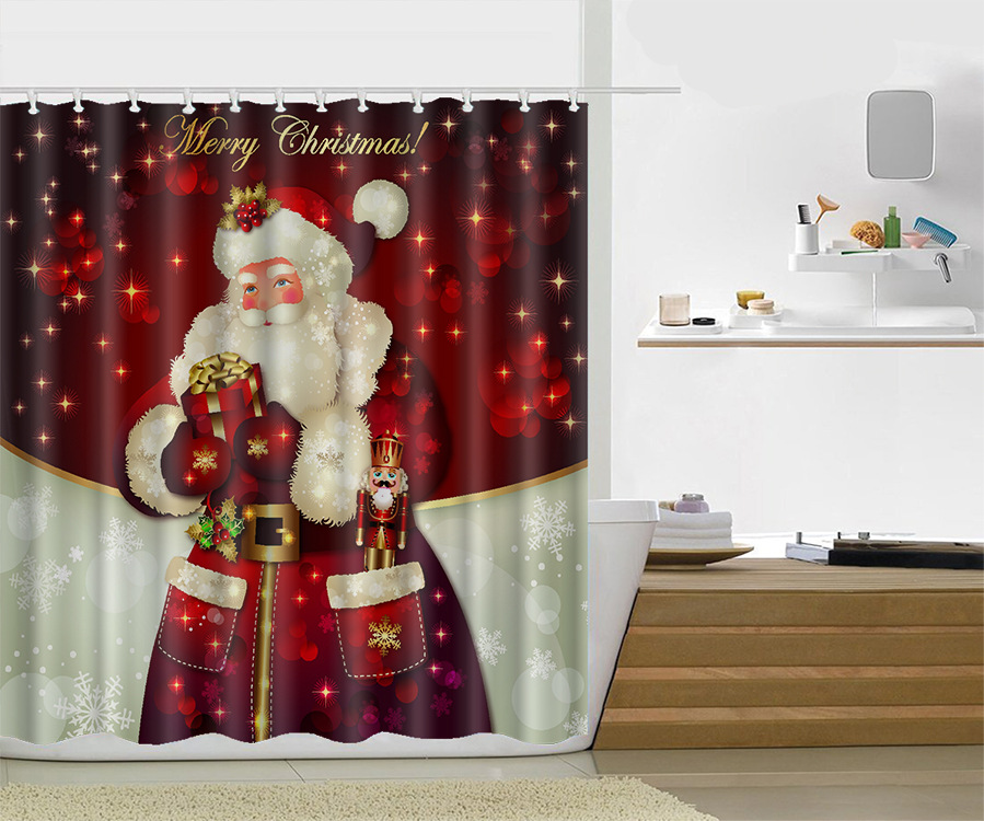 Custom 60/80 x 72 Inch Christmas Shower Curtain Snowman Rideau De ...