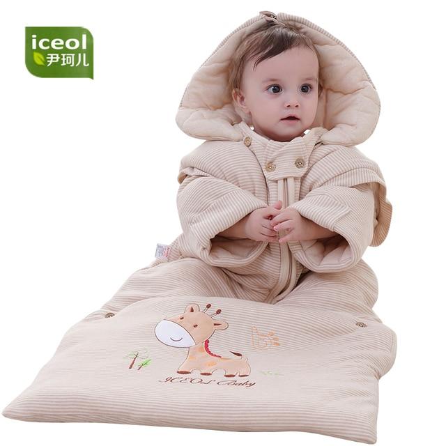 Autumn Detachable Children Sleeping Bag 100 Organic Cotton Blanket Sleepers Zipper Kids Cartoon Boy Girl