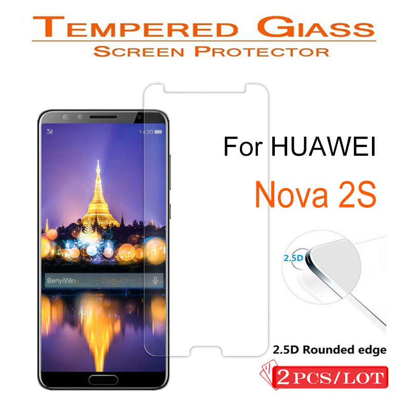 2 Pcs 9H Premium Tempered Glass For Huawei Nova 2S Display Protector Clear Toughened Protecting Movie Case For Nova2 S Cowl Cellphone