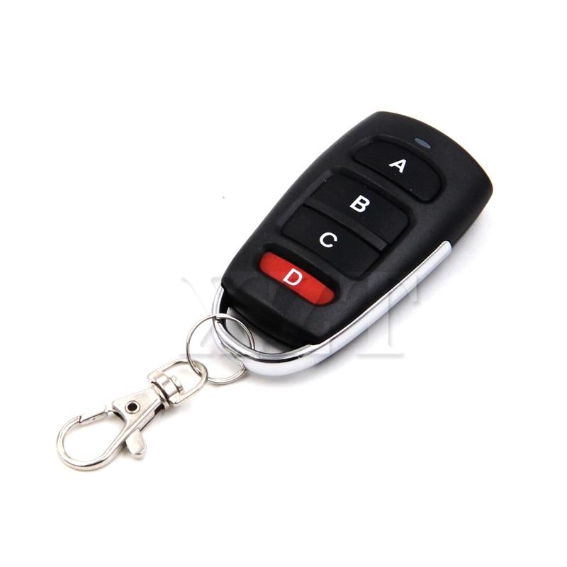 Mais novo universal porta da garagem remoto 4 botão clonar cópia 433mhz elétrica porta da garagem chave de controle remoto duplicador chave