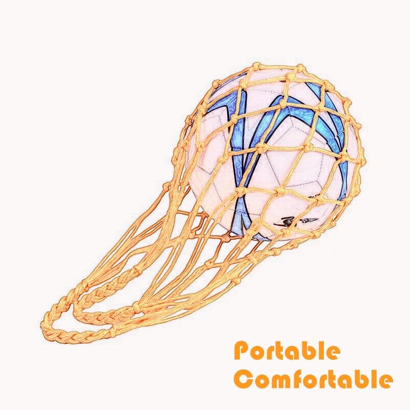 1 Pc Weaving Polyester Net Bag Portable Football Basketball Volleyball Sport Mesh Bag Shopping Bag Ball Supplies