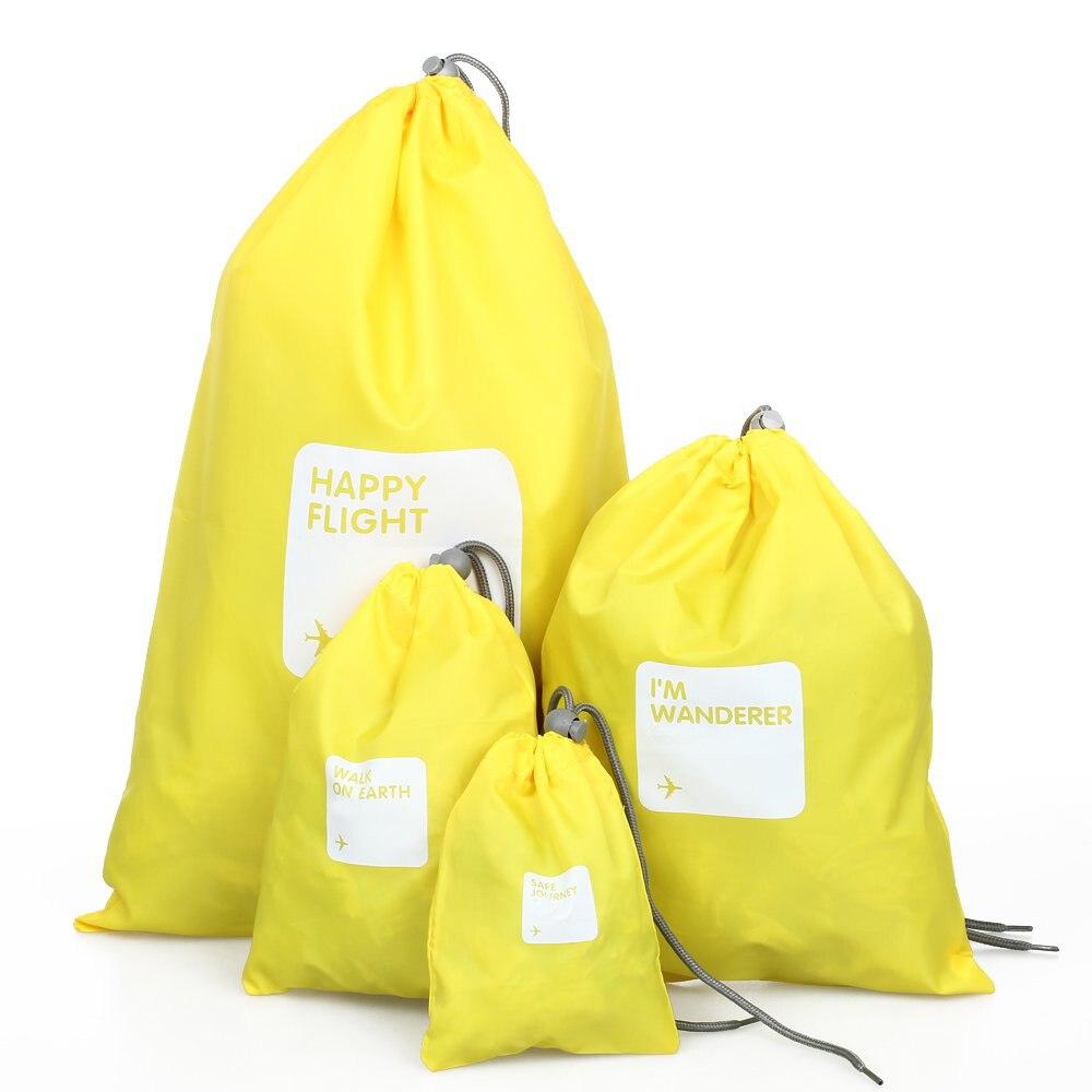 Дорожная сумка-4 пакета(ов) кошелек водонепроницаемый drawstring нейлоновая сумка желтый