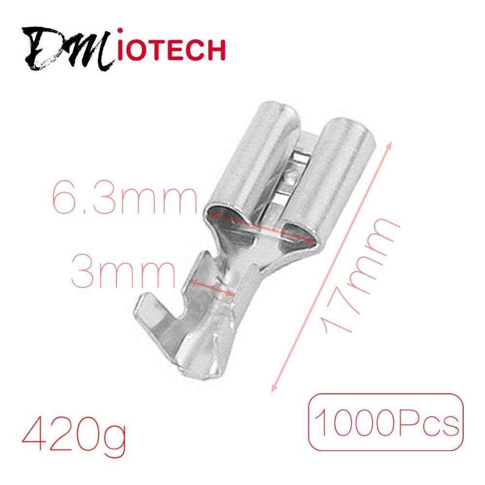 1000 Pcs/lot Car Auto Speaker 6.3mm Wide Female Spade Terminal ...