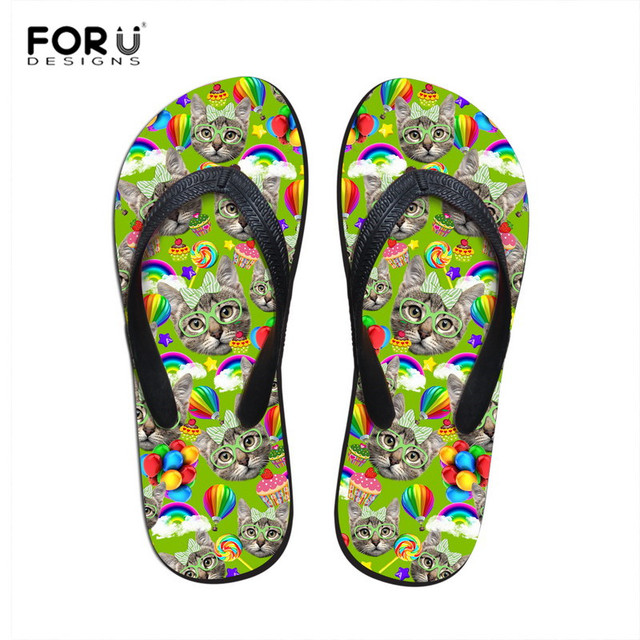 Unisex Non-slip Flip Flops Giraffe Group Cool Beach Slippers Sandal