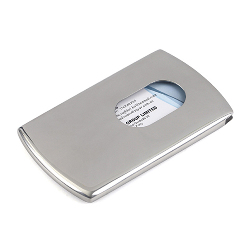 7bb912f3662 Business Card Holder Women Vogue Thumb Slide Out Stainless Steel Pocket ID  Credit Card Holder Case Men LT88-in Card & ID Holders from Luggage & Bags  on ...