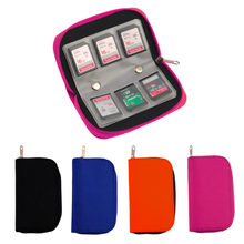 4 Colors SD SDHC MMC CF For Micro SD Memory Card Storage Carrying Pouch bag Box Case Holder Protector Wallet Wholesale Store(China)