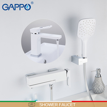 цена на GAPPO Shower Faucets brass water tap chrome and white bath faucet mixer waterfall faucet shower mixers bath shower sets
