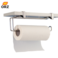 Tissue Holder Stainless Steel Kitchen Bathroom Toilet Towel Chrome Roll Paper Facial Napkins Rack Hanging Door