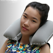 Inflatable U Shaped Travel Pillow