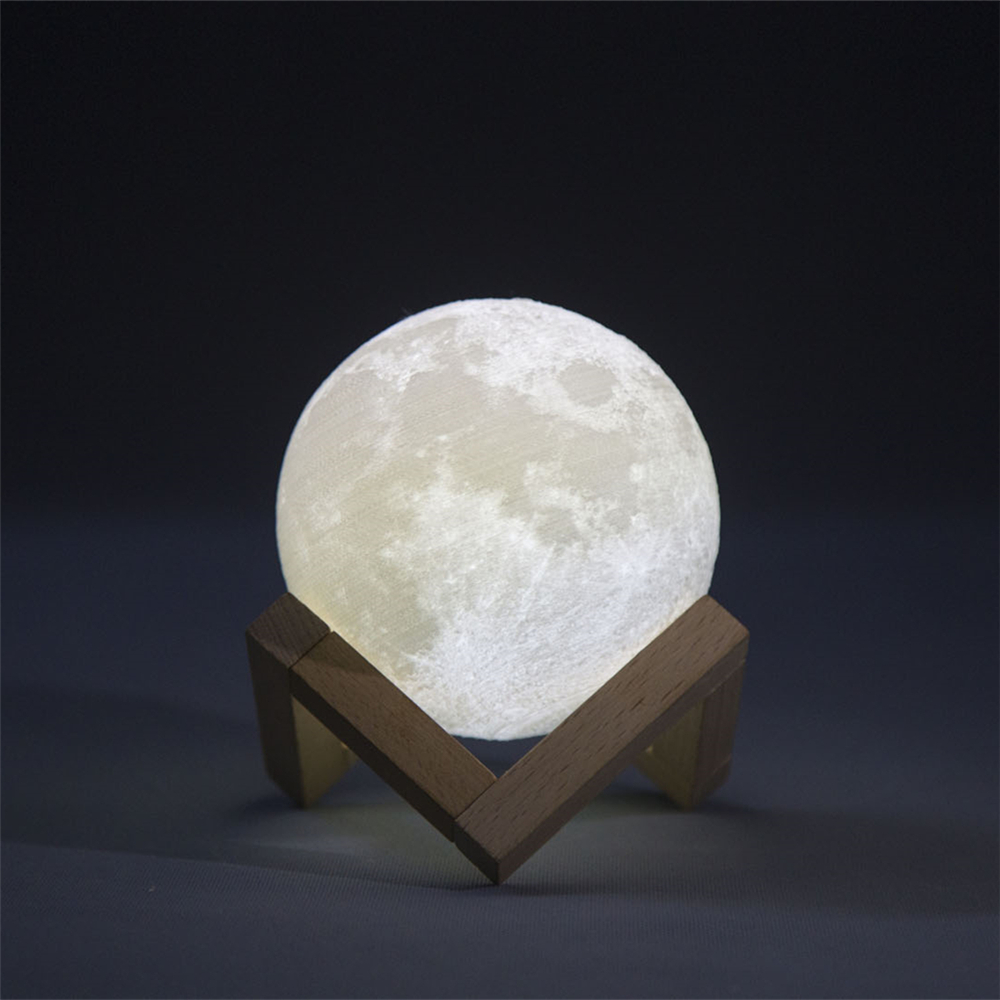 Led PLA 3D Printing Moon night lighting 8CM Dimmable Touch Control Brightness Decorative Led Table moon lamp night Lighting