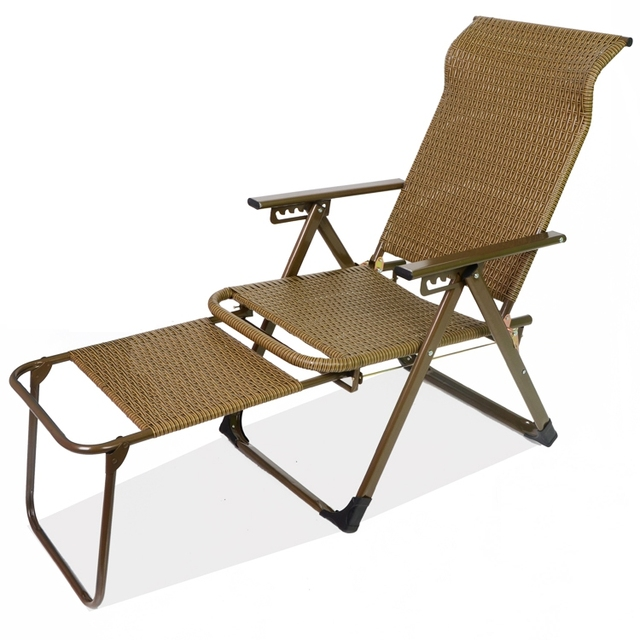 115c451e55 US $79.98 12% OFF Fold Wicker Recliner Sofa Chair Nap Chair Lounge  Recliner,portable Office Patio Beach Pool Side Sports Camping,adjustable 6  Gear-in ...
