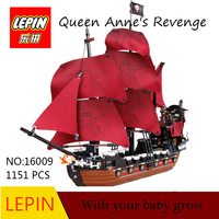 Hot Toys LEPIN 16009 1151Pcs Pirates Of The Caribbean Queen Anne S Reveage Model Building Kit