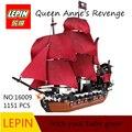 DHL Lepin 16009 1151pcs Queen Anne's revenge Pirates of the Caribbean Building Blocks Set Bricks Compatible 4195