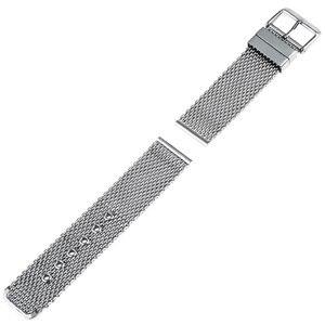 Image 2 - Bracelet de montre en acier inoxydable 20mm 22mm 24mm pour citoyen boucle ardillon sangle lien poignet ceinture Bracelet noir argent + barre de ressort + outil