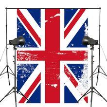 150x210cm British Flag Photography Background British Logo Backdrop Studio Photography Backdrop printio british flag bus