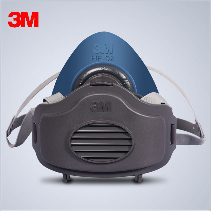3MHF52+10pc3701Filter cotton Quality silicone Half Face Gas Mask KN95 Dust Anti industrial conatruction Dust pollen Haze poison 3m 7502 dust mask 2091 high efficiency filter cotton anti industrial conatruction dust pollen haze safety protective mask