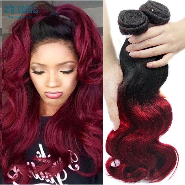 Малайзийский Объемная Волна 3 Пучки Ombre Малайзии Девы Волос на теле 1b бурганды Цвет Rosa Queen волос тела Красотки Weave 3 Связки Лот
