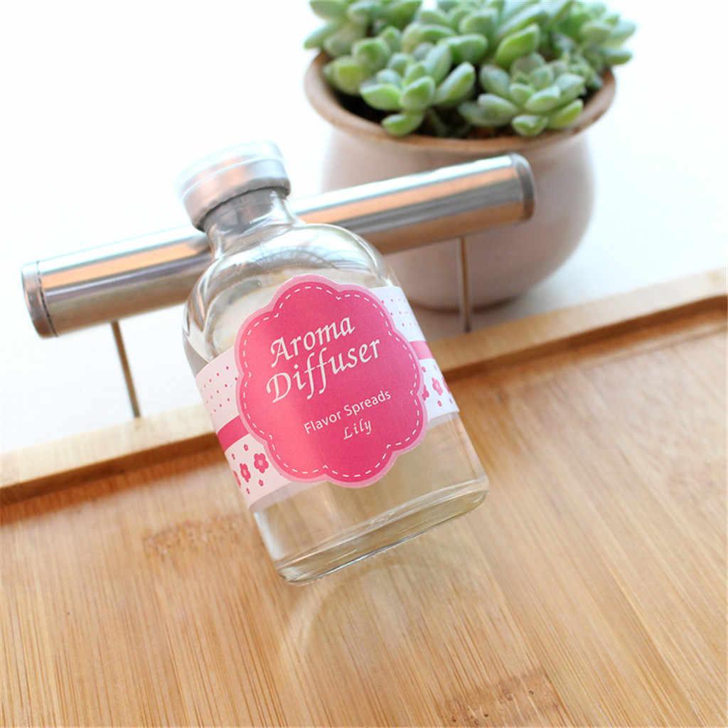50 Ml Reed Oil Diffusers Alami Tongkat botol Kaca dan Minyak Wangi Aroma Alami Reed Tongkat Home Fragrance Hadiah