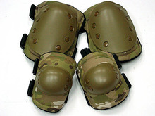 Four pieces / Sets Riding Safety Protector Elbow Roller Suit Tactical Army MILL Kneepad wholesale Field Roller Brace Kneecaps