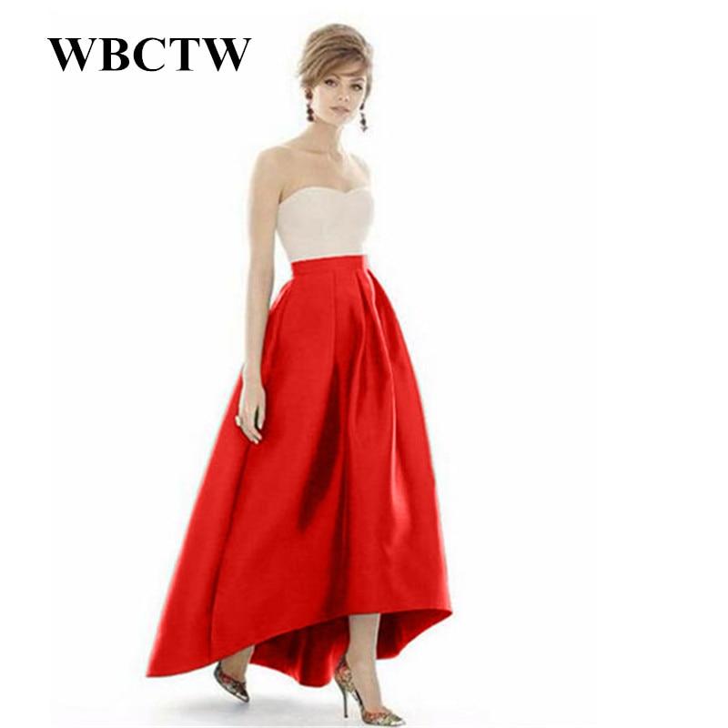 b7a7240041b0fb ᐅWBCTW XXS-10XL Grande Taille Femme Jupes Solide Vintage Élégant ...