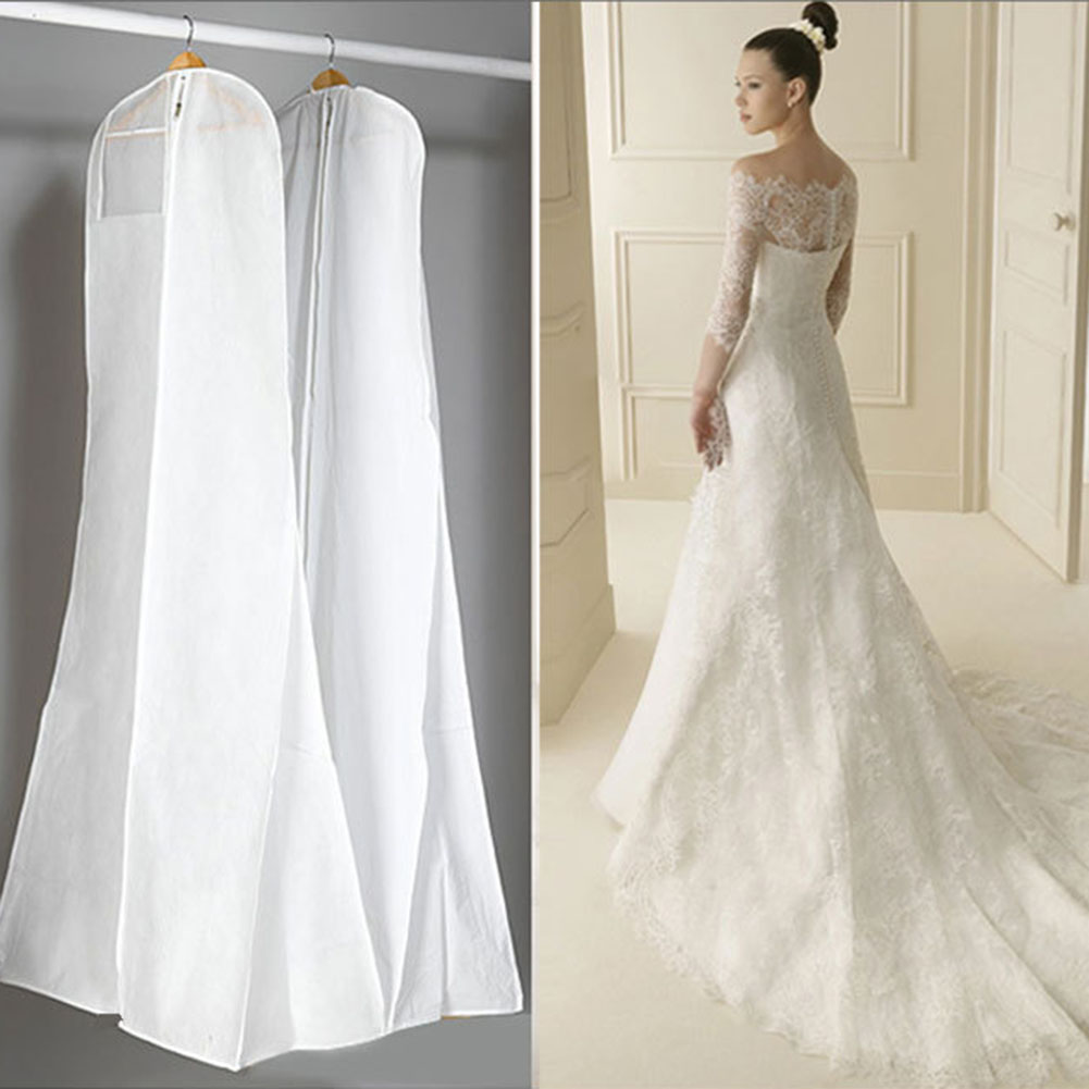 Wedding Gown Garment Bag: 20183 Sizes Wedding Dress Bags Clothes Cover Dust Cover
