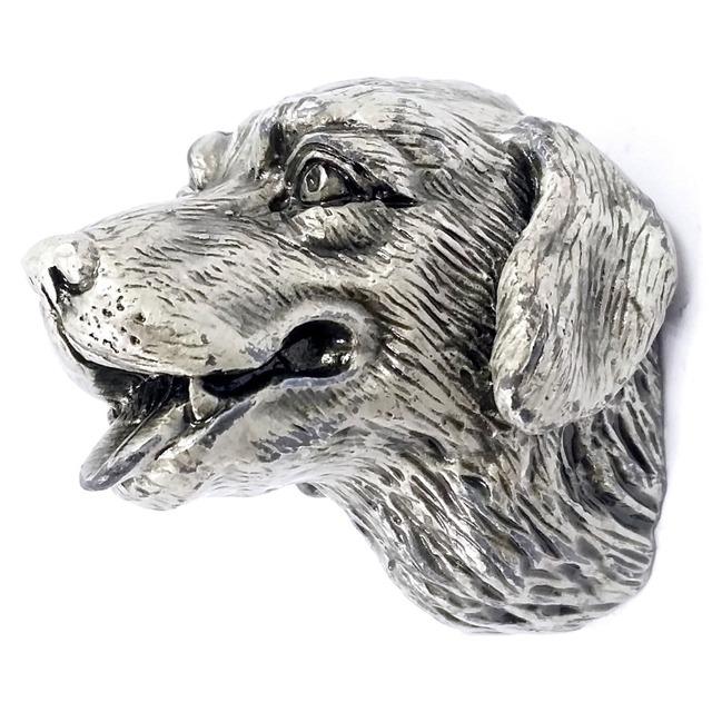 Nova chegada antigo Sliver cabeça de cão gaveta da cozinha porta do armário alça / Hardware botão móveis