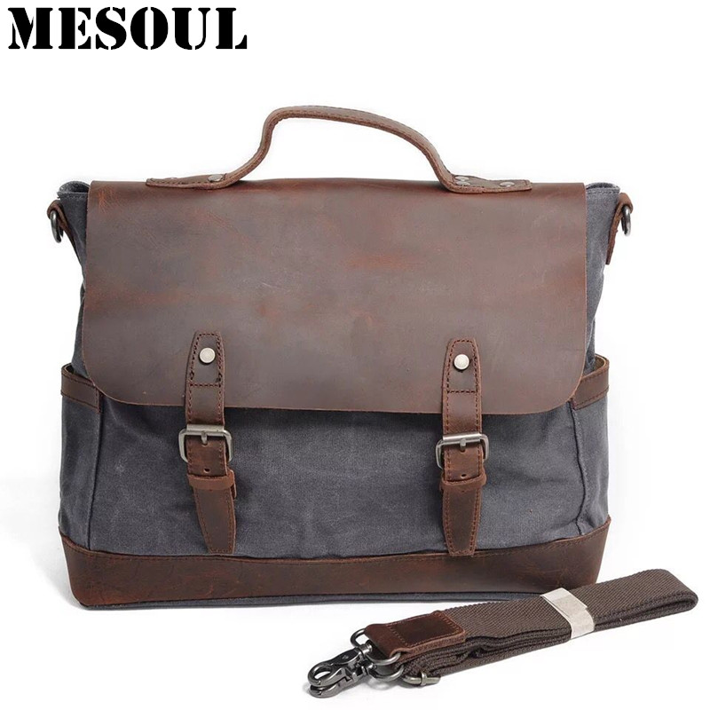 Men's Business Shoulder Bag Casual Travel Handbag Waterproof Military Male Messenger Bags England Style Brand Laptop Bag 14 inch new canvas men handbag satchel casual bag vintage military style travel male messenger bag briefcase business laptop bag 15 inch