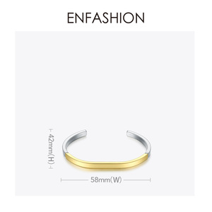 Image 4 - Enfashionシンプルなオープン女性の混合色のステンレス鋼ミニマ宝石友人ギフトBC192007