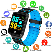 BANGWEI New Smart Wristband Fitness Tracker LED Color Touch Screen Message Heart Rate Time Watch Men Women Sport Watch+Box