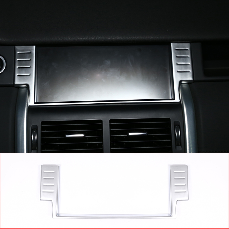 For Land Rover Discovery Sport 2015 2016 2017 2018 Car-Styling 10 inches Navigation Screen Frame Trim Car Accessories 1PC yaquicka car central console gear shift panel frame trim styling cover for land rover discovery sport 2015 2016 accessories