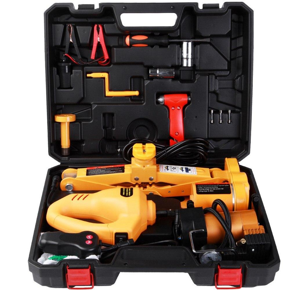 3 тонный Автомобильный Электрический домкрат гаечный ключ 3 в 1 Авто подъемная шина Замена ремонтные инструменты комплект гидравлический до