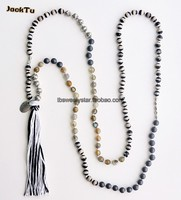 hematite peace parts long necklace diy for woman