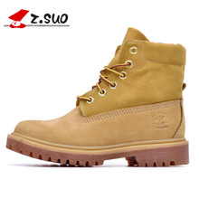 """Z. Suo """"women's boots, Hiking Shoes, winter boots woman head layer cowhide, botas mujer botte femme"""