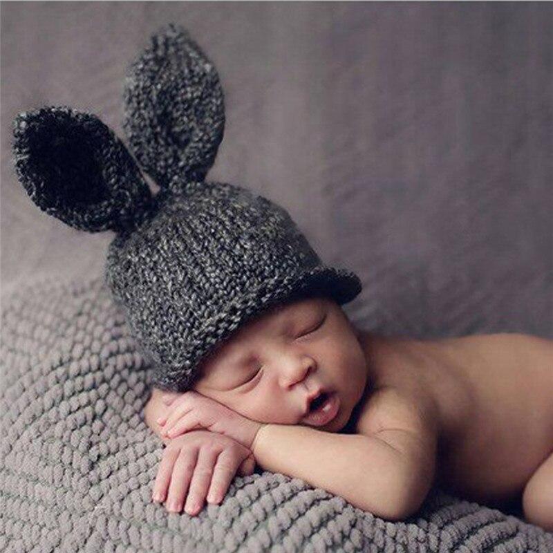 Handmade Newborn Baby Boy Hat Knitted Beanie Hat Crochet Bunny ...