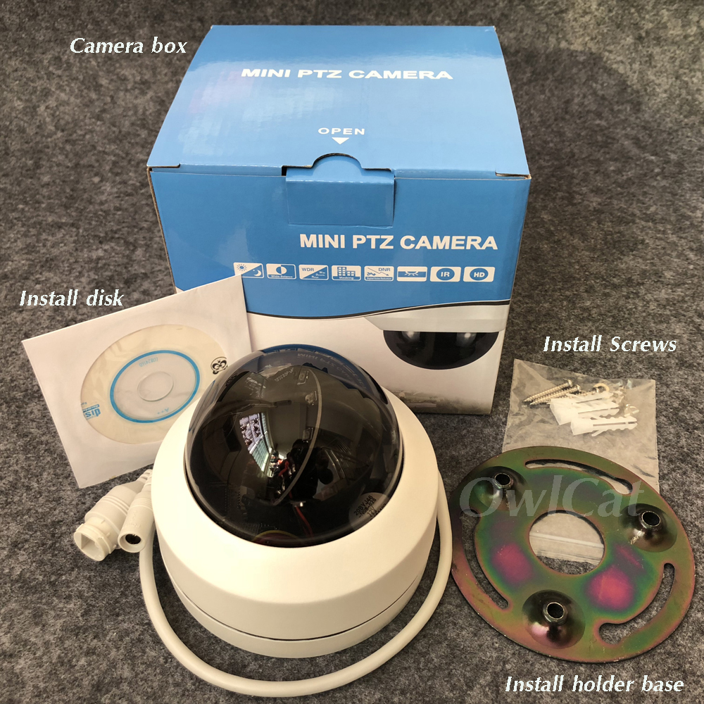 HD 1080p 2.5''Dome Camera Wired IP Security Surveillance System Pan/Tilt/Zoom Night Vision Onvif Motion Waterproof Street Cam цена и фото