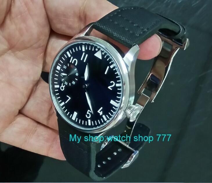 Здесь продается  44mm PARNIS black dial Asian ST3600/6497 Mechanical Hand Wind movement Mechanical watches green Luminous men
