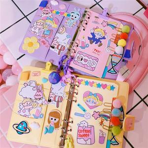 Image 4 - 2019 Pink Cute Notebook Notepad Kawaii Planner Gift Set PU Leather Creative School Supplies Journal Notebook Stationery