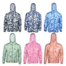 bfef4ec619 Sunscreen Shirt Men Women Beach Cover Up Transparent Bikini Cover Up  Camouflage Printed Cover-ups