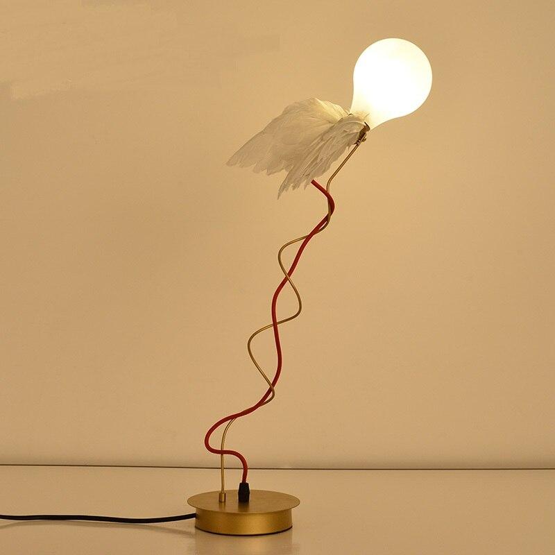 Северной оригинальность настольные лампы дизайн настольная лампа led прикроватные Крыло ангела исследование личности, спальня Искусство на...