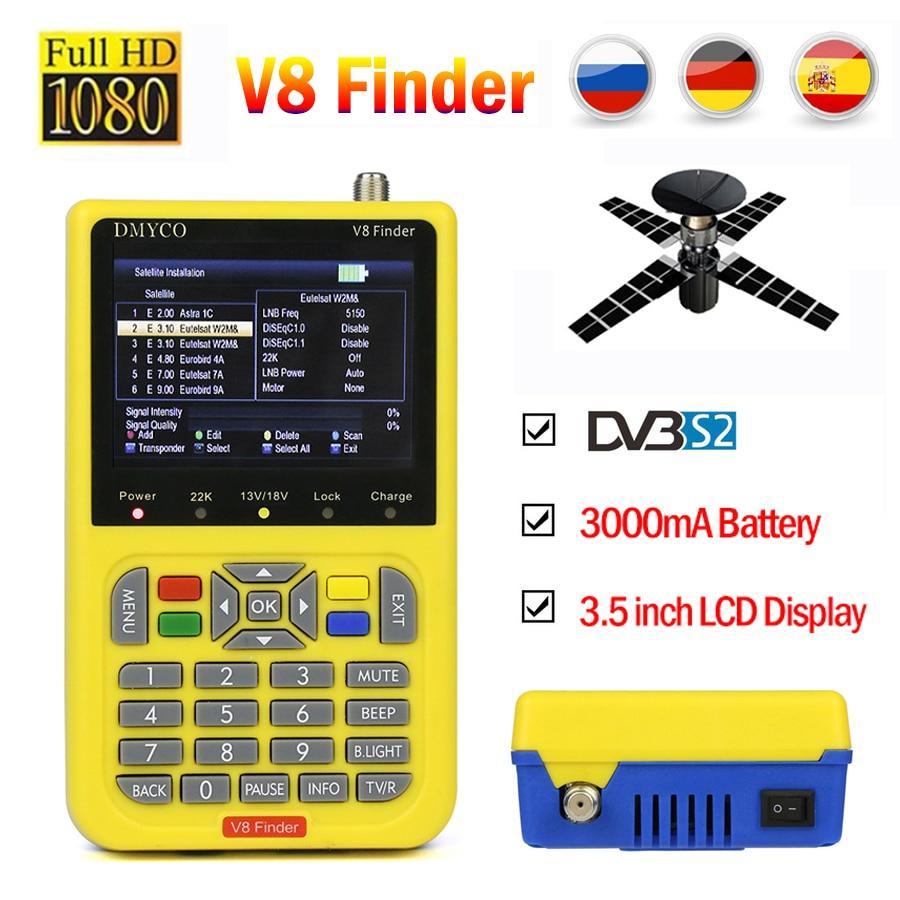 V8 Finder HD satfinder DVB-S2 High Definition Satellite Finder MPEG-4 DVB S2 Satellite Meter Volle 1080 p V8 Finder lnb sat finder