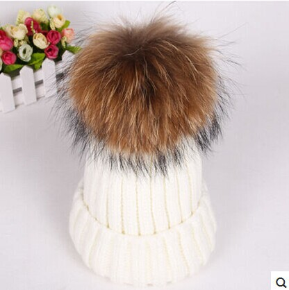 Pom Poms winter Hat mink and fox fur ball cap for women girl 's wool hat knitted cotton beanies cap brand new thick Cap 90007 fox fur ball cap pom poms winter hat for women girl s wool hat knitted cotton beanies cap brand new thick female cap