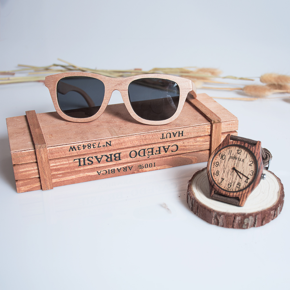 BEWELL Simple Men Watch Famous Brand Wood Watch Zebra Analog Digital Bamboo Clock Men Women Watch Canvas Strap Quartz Watch 124B simple brown bamboo full wooden adjustable band strap analog wrist watch bangle minimalist new arrival hot women men nature wood