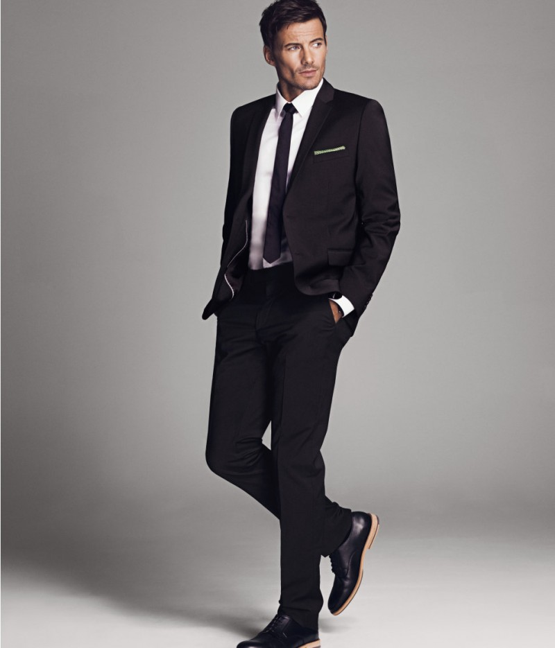 Black And White Male Suits - Hardon Clothes