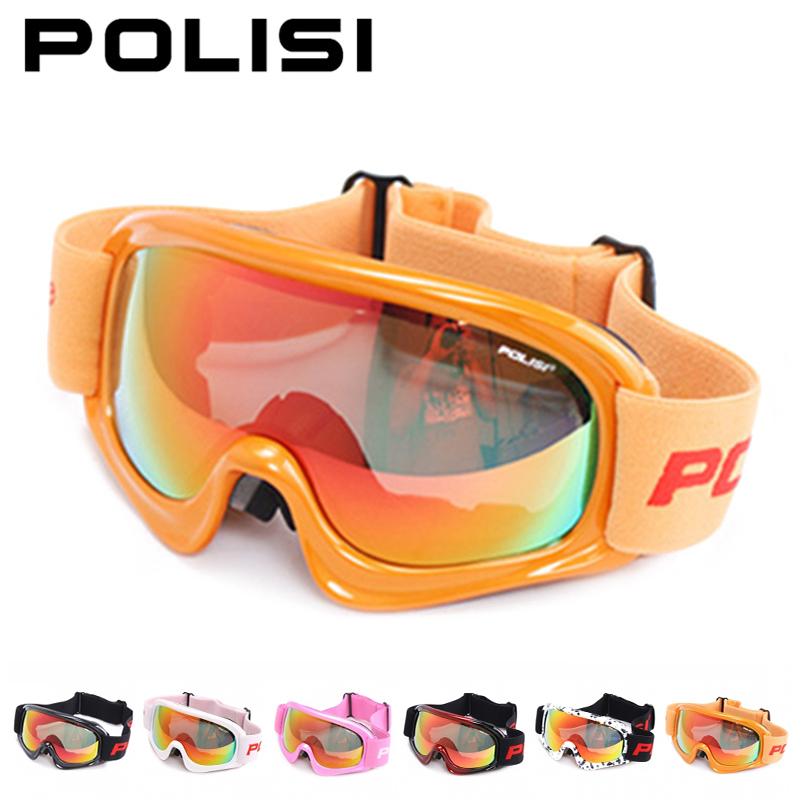 цена на POLISI Winter Ski Snowboard Goggles Children Kids Polarized Anti-Fog Lens Snow Glasses Skate Snowmobile Skiing Eyewear, 5 Colors