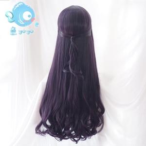 Image 2 - Biamoxer Peluca de pelo rizado para Cosplay Peluca de Anime de 70cm, naiper Sakura, tarjeta transparente, Tomoyo Daidouji