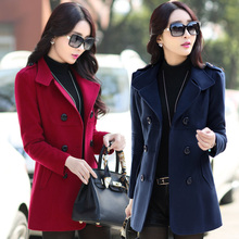 2017 plus size short design woolen outerwear female slim thickening woolen overcoat female