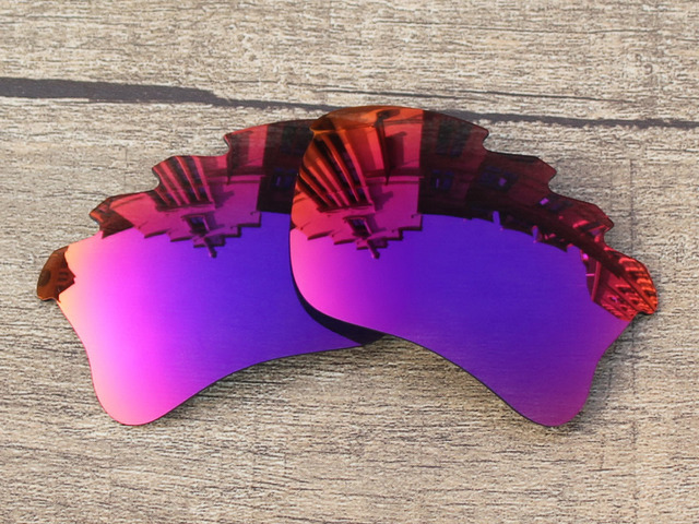 ceb68391c65 Purple Red Mirror Polarized Replacement Lenses For Flak Jacket XLJ Vented  Sunglasses Frame 100% UVA