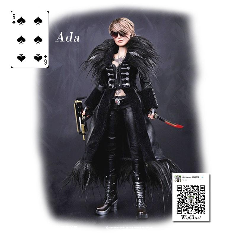 """Leather Pants Model for 12/"""" 1:6th DAM GK008 Gangster Kingdom Spades 6 Ada Belt"""