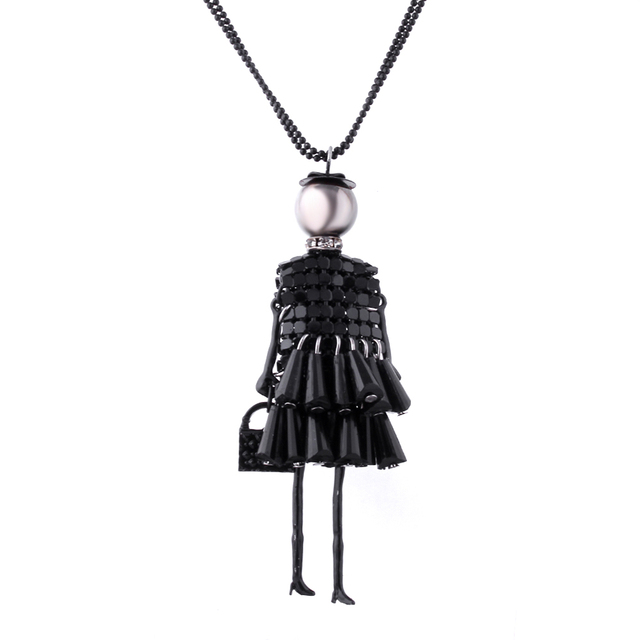 Doll Pendant Necklace
